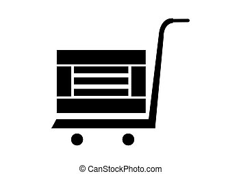 A simple crate on a cart icon