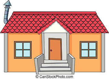 A simple house on white background