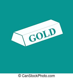 A simple icon of gold bullion