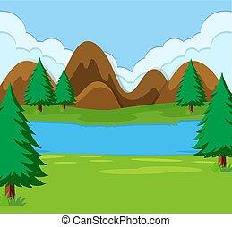 A simple landscape scene