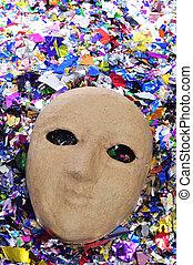 paper-mache mask