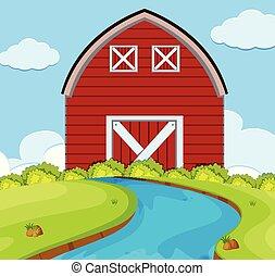 A simple rural house scene