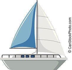 A simple sailboat on white background