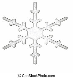 single snowflake - a simple single snowflake with no drop...