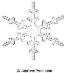 single snowflake - a simple single snowflake with no drop...