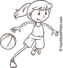 A simple sketch of a female basketball player