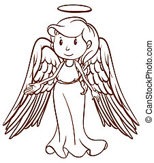 A simple sketch of an angel
