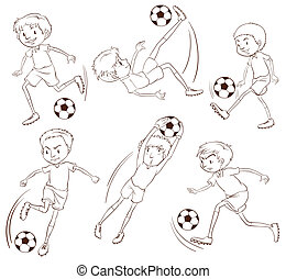 A simple sketch of the soccer players
