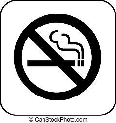 a, sinal, nenhum fumar