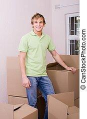 single bachelor - a single bachelor moving into his new home