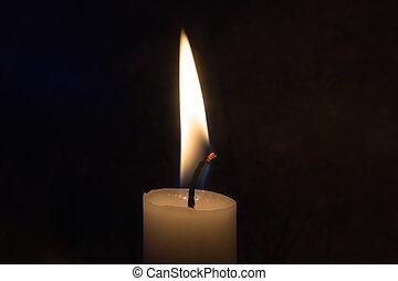 A single candle burning