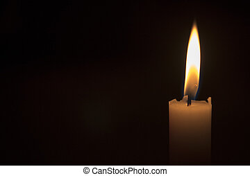 A single candlelight background