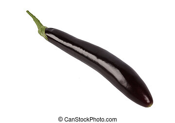 a single eggplant with white background