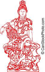 Goddess Buddha - A sitting Goddess Buddha.