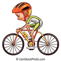 A sketch of a cyclist - Illustration of a sketch of a...