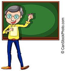 A sketch of a male teacher