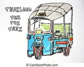 Thailand Tuk Tuk Taxi