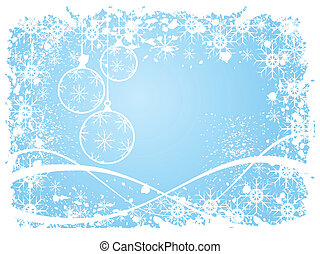 A sky blue grunge christmas scene - A sky blue christmas...