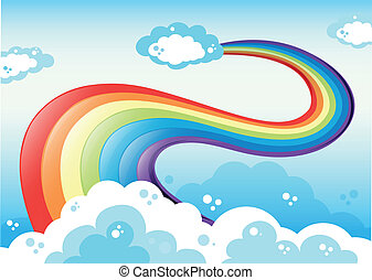 A sky with a rainbow