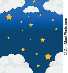 A sky with bright stars