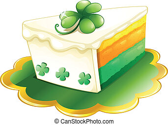 A slice of cake for St. Patrick's Day