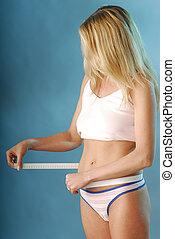 A slim figure