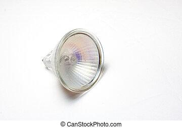 A small 40 watt halogen lamp