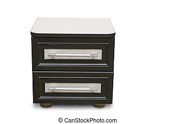 A small bedside table on white background.