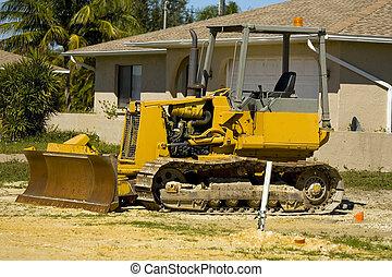 A small bulldozer