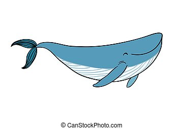 A small cartoon whale.
