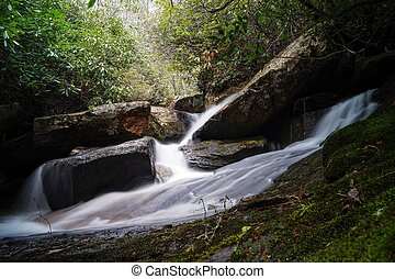 A Small Cascade - Whitewater Falls, North Carolina, USA