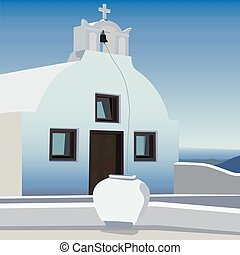 a small chapel in soft warm colors