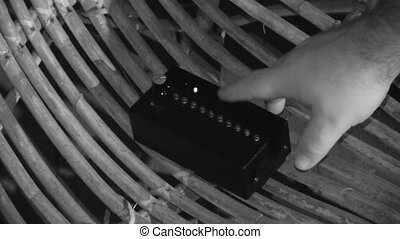 A small ghost detector - A monochromatic shot of a device...
