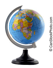 A Small Globe Of The World On A Stand