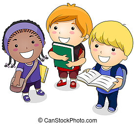 A Small Group of Students Carrying Books