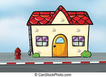 A small house near the street