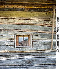 old wooden house wall
