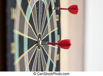 red dart on the bulls eye