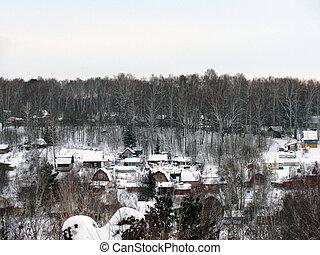 A small Russian Village in winter