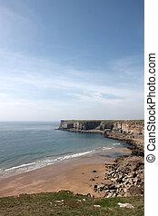 A small sandy Pembrokeshire beach