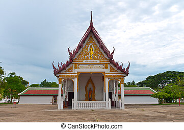 A small size Buddhist Temple in Thailand