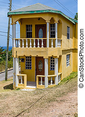 Small Two Story Stucco Home