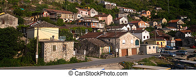 A small village on a hill in Montenegro