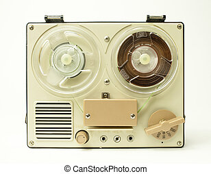 reel to reel - a small vintage reel to reel tape recorder