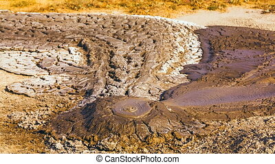 a small working mud volcano - A small, working mud volcano...