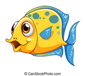 A small yellow fish - Illustration of a small yellow fish on...