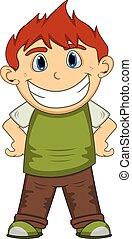 A smile boy cartoon