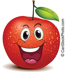 A smiling apple