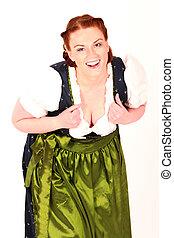 A smiling Bavarian girl