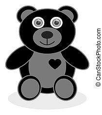 a smiling black bear cub